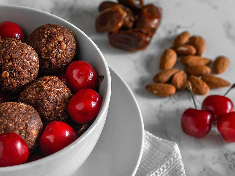 Chocolate Cherry Energy Balls