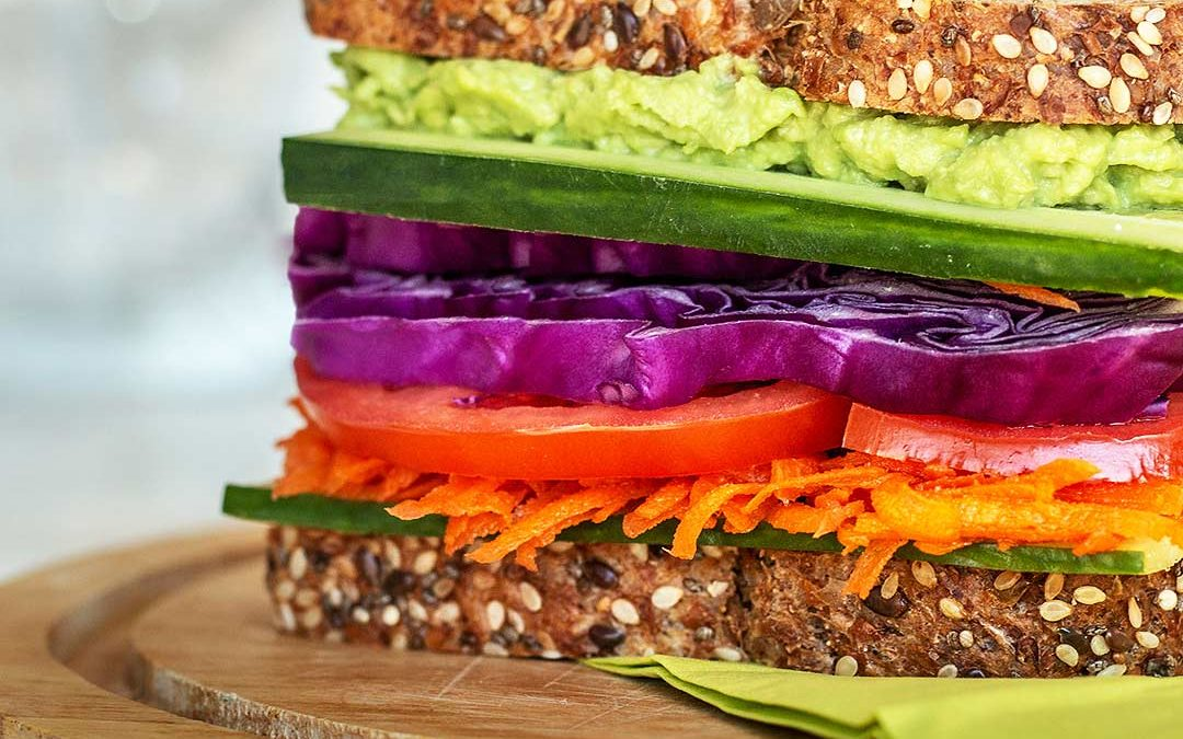 Rainbow Vegetarian Sandwich